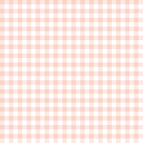 pale coral gingham