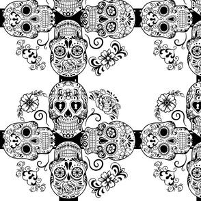 sugar skull geometric