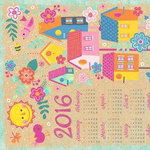 Feather Weather 2016 Tea Towel Calendar