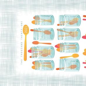 Mason Jars Calendar Tea Towel_2021