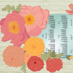 Late Summer Blossoms Tea Towel