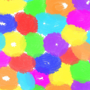 Rainbow Painted Color Donuts