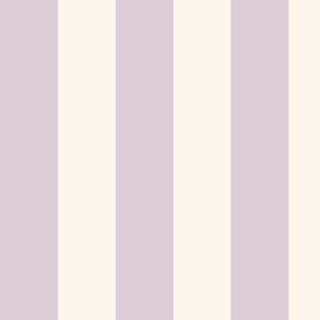 lilac-mauve and cream cabana stripes