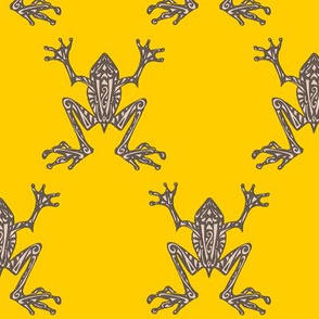 Fabulous Frogs (Bold Yellow) (Updated Design - larger scale)