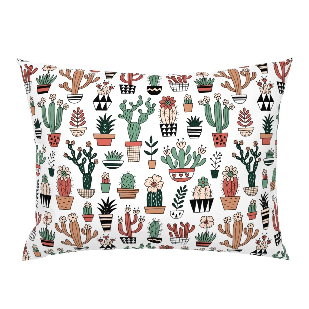 Campine Pillow Sham featuring Blooming succulents by mirabelleprint