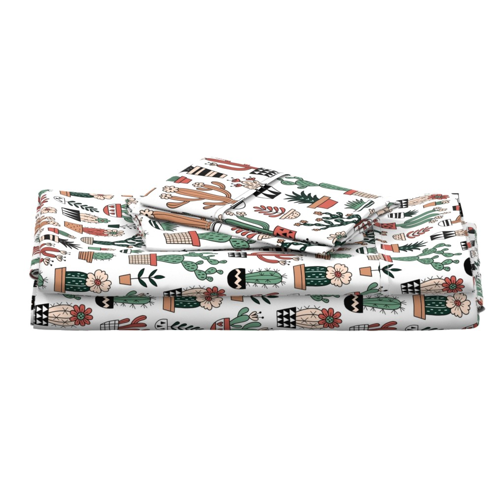 Langshan Full Bed Set featuring Blooming succulents by mirabelleprint
