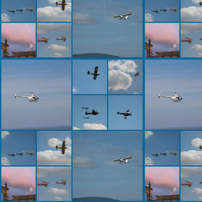 Planes on Blue Background