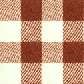 """2"""" Wool Buffalo Check in Brick Red"""