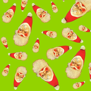 Floating Santa Heads