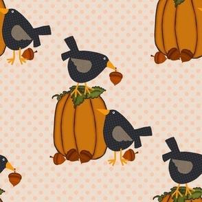 Prim Crows and Pumpkins
