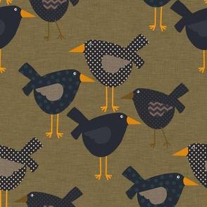 Whimsical Prim Crows