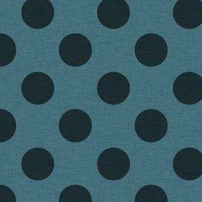 Prim Dark Blue Polka Dots