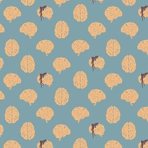 Zombie brain polka dots - colorway 01