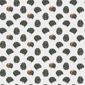 Zombie brain polka dots - colorway 03