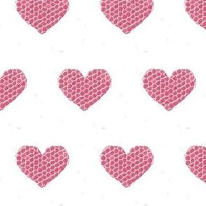 Large Mosaic Hearts (white background)