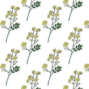 Danita's Friendly Flowers in Yellow
