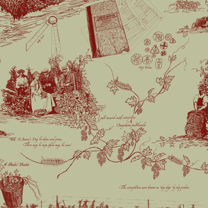 Red_Toile_on_Pale_Green_repeat