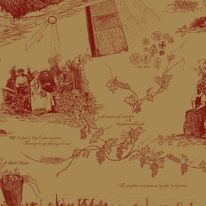 Red_Toile_on_Mustard_repeat
