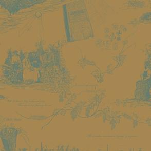 Dark_Green_Toile_on_Mustard_repeat