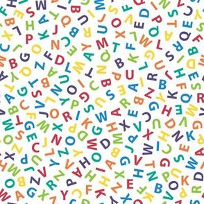 ditsy rainbow alphabet