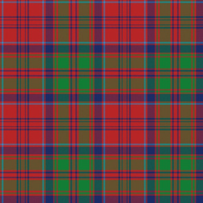 "Grant tartan, 9"" red / green / navy"