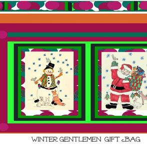 Winter Gentlemen  Holiday Gift Bag
