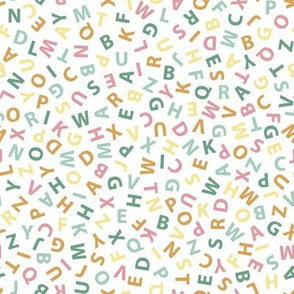 ditsy spring pastel alphabet