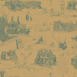 Dark_Green_Toile_on_Pale_Mustard_repeat
