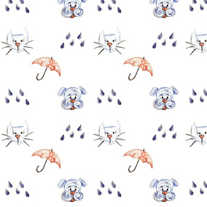 It's Raining Cats and Dogs Doodle