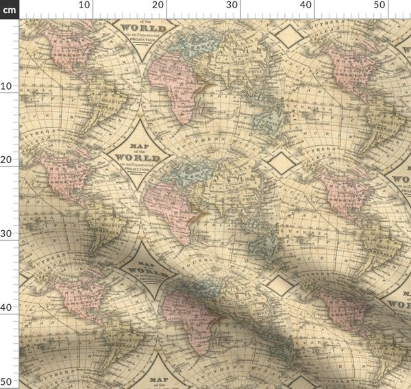 Old World Map Spoonflower
