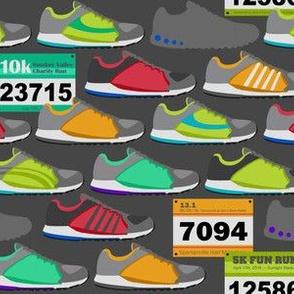 Running Shoes & Race Bibs