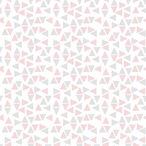Random Triangles Pink and Grey