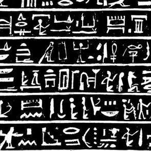 Hieroglyphics on Black // Small