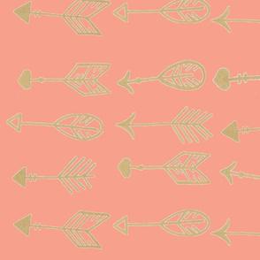 coral golden arrows