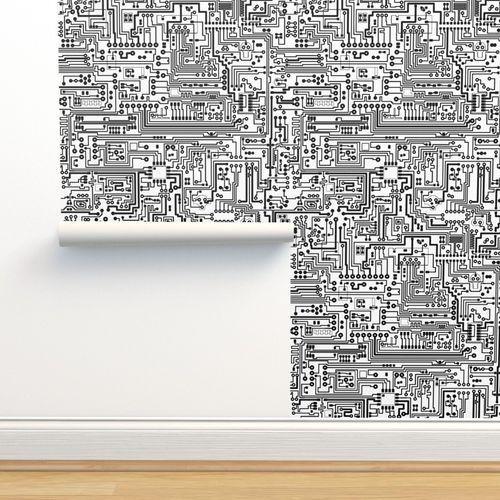 Wallpaper Circuit Board Custom Size