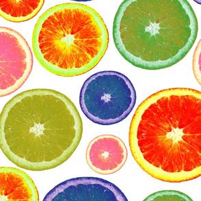 Oranges in White