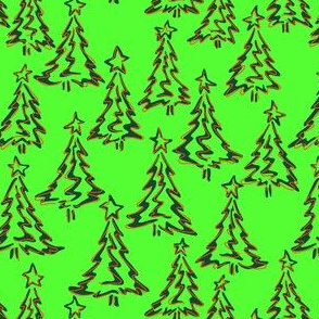 Mod Wiggly Trees (seamless repeat)
