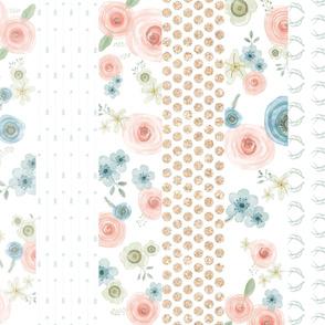 Woodland Flower Cheater Quilt