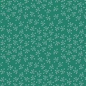 Pine green stars