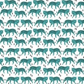 tiger // blue mini tiger print for baby nursery decor