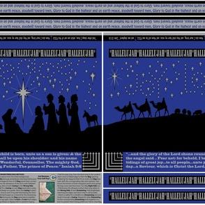 GIFT BAG Cut n Sew Nativity Silhouettes