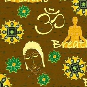 Meditation & Breathing - Yellow & Brown