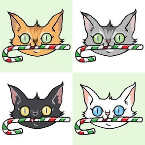 Candy Cane Cats- LARGE