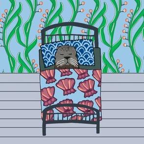 Animal Dream Otter - quilt block