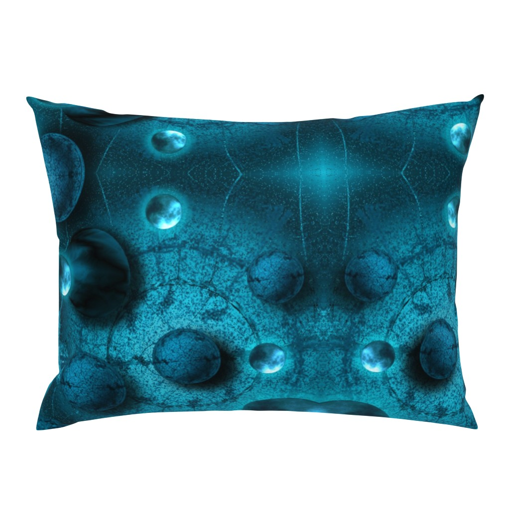 Campine Pillow Sham featuring Introoder_moons by snarets