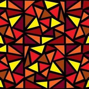 Dean's Stained Glass Triangles in Orange Hues