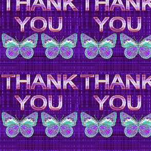 Purple Butterfly Thank You Thank You