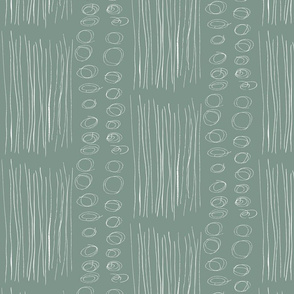 Stripes and Circles Grey