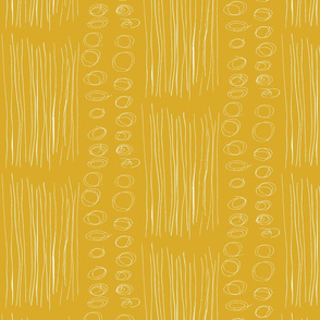 Stripes and Circles Ochre