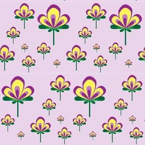 Art Deco Flower Lilac